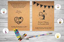 Personalised Childrens Kids Wedding Activity Pack Book Bunting Rustic Vintage B7