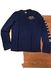 Men's Hollister Long sleeve crew neck shirt Light Blue Medium