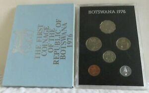 1976 BOTSWANA - OFFICIAL PROOF SET (6) - THEBE & PULA - ROYAL MINT - ORIG. PKG