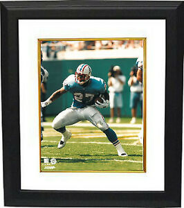 Eddie George unsigned Tennessee Oilers 8x10 Photo Framed (blue jersey front)