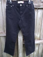 """Levi's 550 Relaxed Boot Cut Black Jeans Size 12S Inseam 29""""  FREE SHIPPING W754"""