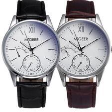 Men's Luxury Stylish Crocodile Faux PU Leather Mens Analog Watch Wrist Watches