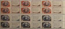 RUSSIA SOWJETUNION 1949 1350 1352 ZF stripes of 6 150 Geb. Puschkin Pushkin MNH