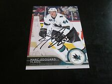MARC-EDOUARD VLASIC AUTOGRAPHED 2014-15 UPPER DECK HOCKEY CARD-SHARKS