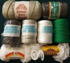 Assorted Lot Of 8 Packages Vintage Macrame Cord