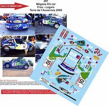 DÉCALS 1/32 réf 287 Mégane Kit car Frau - Legars Terre de l'Auxerrois 2000