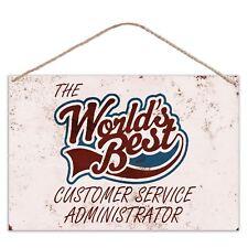 I mondi migliori il servizio clienti amministratore-Look Vintage Metallo Placca di grandi dimensioni
