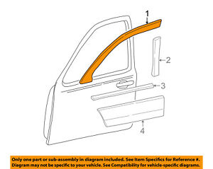 Lincoln FORD OEM 98-11 Town Car Front Door-Window Molding Right F8VZ5420846AA