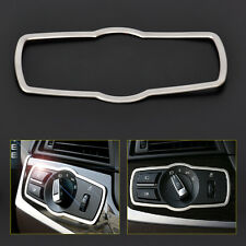 Chrome Interior Headlight Switch Button Cover DECOR Trim for BMW 5 X3 X4 F25 F26