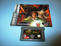 Lord of the Rings The Fellowship of the Ring Game Boy Advance SP Gameboy +Manual