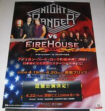 NIGHT RANGER and FIREHOUSE Japan PROMO ONLY 73 x 51 cm official 2008 TOUR POSTER