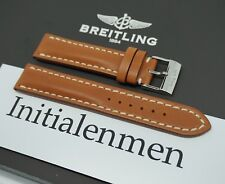 Breitling LEATHER gold 425X 20/18 strap band 100% ORIGINAL & NEW Tang Buckle