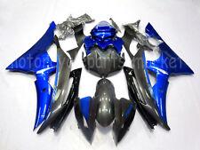 Black Gloss Blue Injection Bodywork Fairings Kit For YAMAHA YZF R6 2008-2015 New
