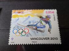FRANCE 2010 TIMBRE 4437, JEUX OLYMPIQUES VANCOUVER, SKI ALPIN, VF MNH STAMP