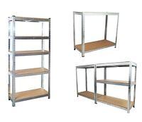 5 Tier Garage Shelving Racking Unit Storage Racks Heavy Duty Steel Shelf Bays