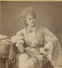 STEREOVIEW PORTRAIT WOMAN IN THEATRICAL COSTUME.