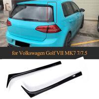 für VW Golf 7 VII Golf7.5 Vertikale Heckspoiler Flap Schwarz Nachrüstset Spoiler