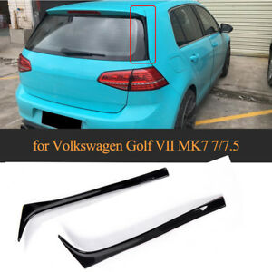 für VW Golf 7 VII Golf7.5 Vertikale Heckspoiler Flap Schwarz Heckansatz Spoiler