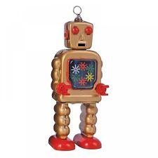 ENESCO  - SAINT JOHN - HIGH WHEEL ROBOT - MECHANICAL WIND UP TIN TOY - NEW BOXED