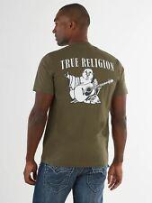 TRUE RELIGION Men's Khaki Green Buddha Printed Short Sleeve XXL RRP59 BNWT