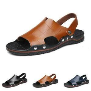 Mens Beach Slingbacks Slippers Sandals Shoes Cut out Sand Walking Flats Summer
