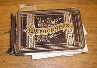Antique Autograph Book & Extras 1880 to 1940s - Partial