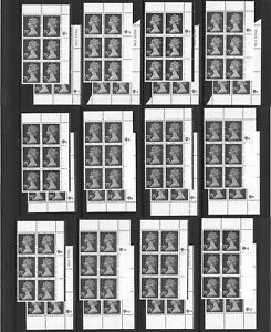 GB 1971/96  75p Plate Block of 6 x 24, SG UG130/X1023, ** All Plate Nos **. MNH