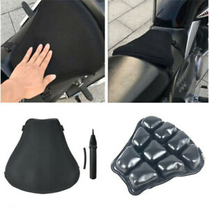 Motorcycle Air Pad Airbag Seat Cushion Cover+Pump Accessories Universal 30X31Cm