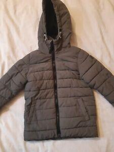 Next Boys winter coat size 4 years Grey hooded IGC
