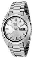 BRAND NEW Seiko 5 Gents SILVER Dial Automatic Stainless Steel Watch SNXS73 G'tee