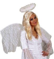 Ladies Long Blonde Angel Wig Tinsel Cupid Gabriel Fairy Fancy Dress Valentine