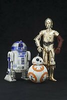 ARTFX+ Star Wars The Force Awakens R2-D2 & C-3PO with BB-8 1/10 Figure Japan*