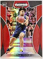 2019-20 Panini Jordan Poole Silver Red Prizm Rookie Card Golden State Warriors🔥