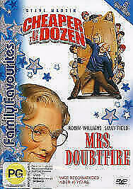 CHEAPER BY THE DOZEN & MRS. DOUBTFIRE - DOUBLE FEATURE DVD (2004) FAMILY, COMEDY