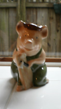 WADE WOOD HOUSE PIG FIGURINE FROM BIG BAD WOLF & 3 LITTLE PIGS 1995
