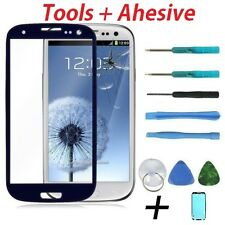 Blue Replacement Front Screen Glass Len for Samsung Galaxy S III i 9300 + Tools