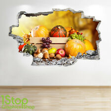 ORGANIC VEGETABLE WALL STICKER 3D LOOK - BEDROOM LOUNGE KITCHEN WALL DECAL Z776
