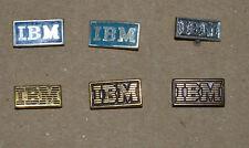IBM computing small vintage stick pin badges lot 6 different rare