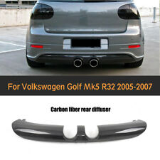 Carbon Fiber Rear Bumper Diffuser Lip for Volkswagen VW Golf V MK5 R32 2006-2008