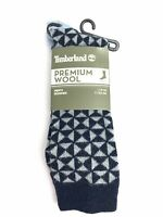 Timberland Premium Wool Blue 1 Pair Men's Crew Socks A1E5P-433