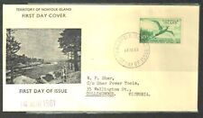 NORFOLK ISLAND 1960 TROPIC BIRD 10s EXCEPTIONAL FDC