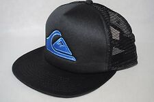 New Quiksilver Trucker cap snapback black Flat Bill Adjustable MeshBack mans hat