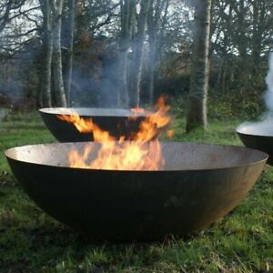 80cm Mild Steel Fire Pit/Burner/Fire Bowl/Garden Heater/Camping/Rust/Bonfire