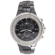 Mens Diamond Watch IceTime Joe Rodeo JoJo Black Ceramic Chronograph 1.50 Ctw.