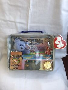 Limited Edition Retired Ty Beanie Baby Official Club Bear Kit - Clubby II - 1999
