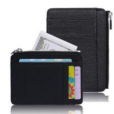 Genuine Leather Mens RFID-Blocking ID Wallet Slim Credit Card Holder Minimalist