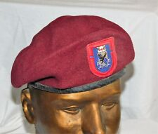 Vietnam Us Army 505th Pir Beret Cut Edge Flash Di Crest 1st Battalion Airborne