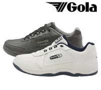 Men's Gola Belmont AMA203 Wide Fit Comfort Leather Lace Up Trainers Shoes