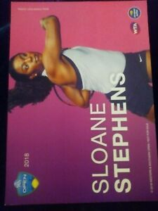 WTA WESTERN & SOUTHERN 5x7 SLOAN STEPHENS TENNIS CARD 2018 EDITION G/AWAY