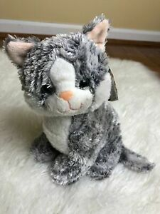 "Princess Soft Toy Greycie Tabby Cat Plush 9"" Stuffed Animal Melissa & Doug #7525"